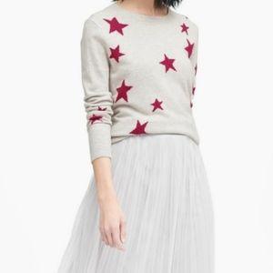 NWT BANANA REPUBLIC Merino Wool Stars Sweater
